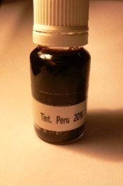 Peru balm tincture sample